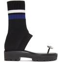 3.1 Phillip Lim Black Knitted Cat Sandals
