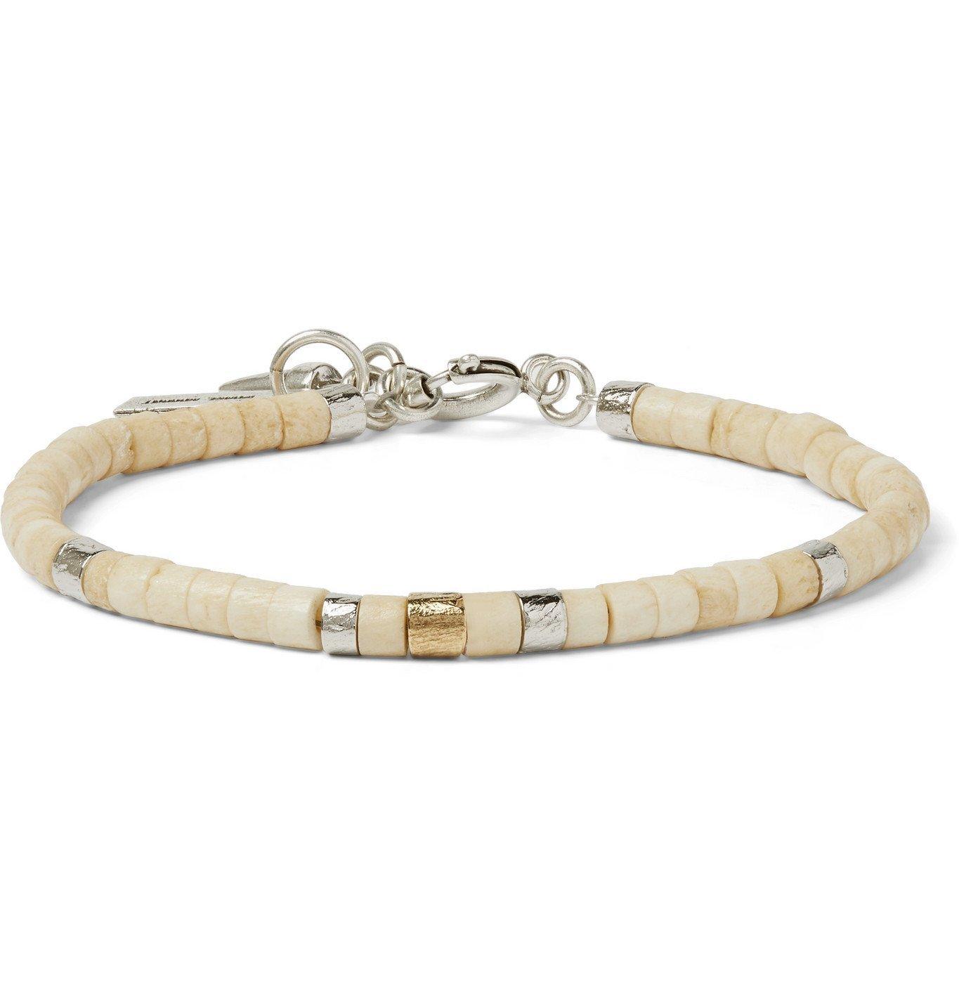Photo: Isabel Marant - Silver-Tone and Bone Beaded Bracelet - Neutrals