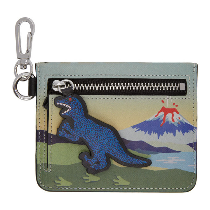 Photo: PS by Paul Smith Multicolor Dino Zip Card Holder
