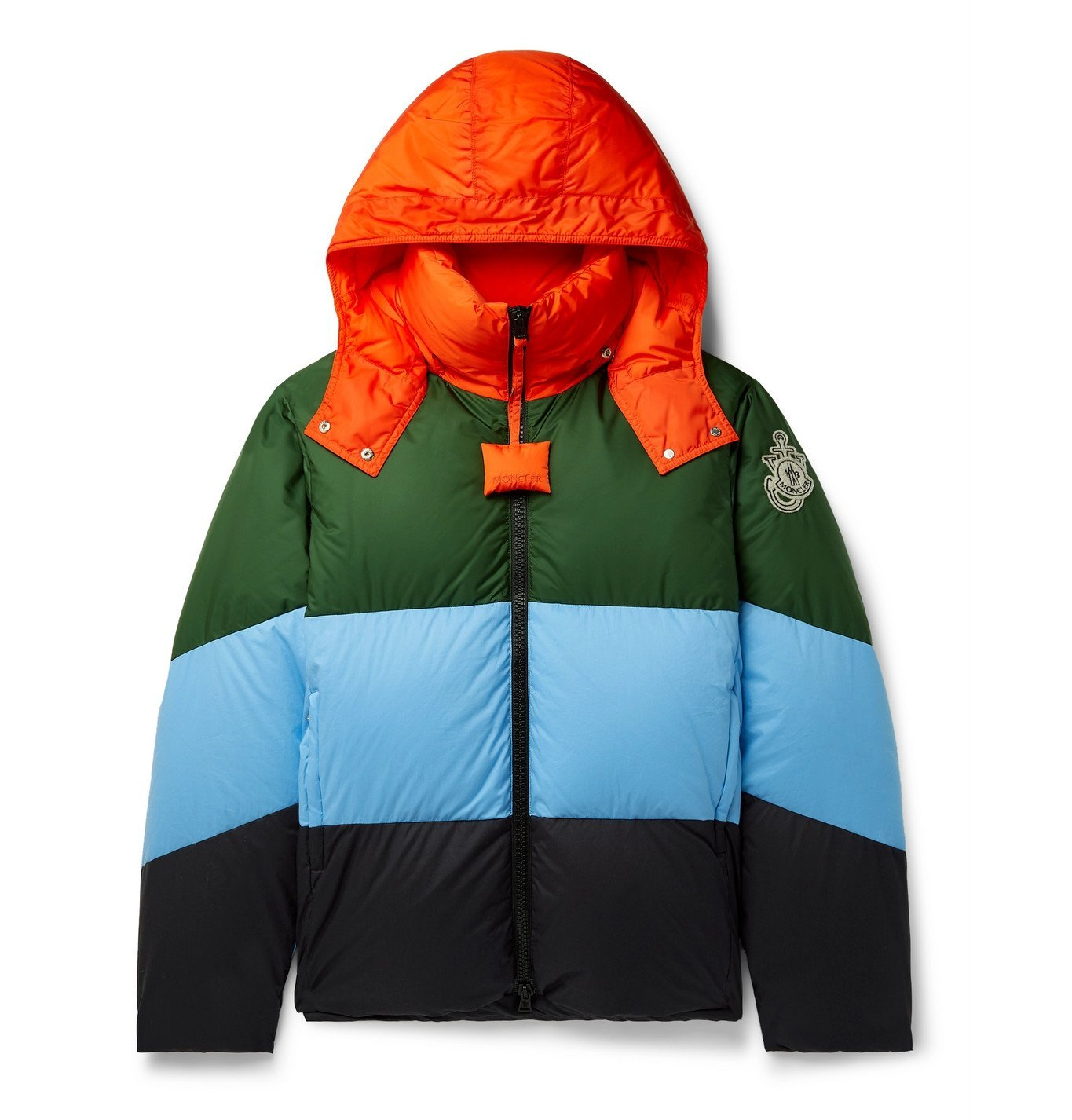 Photo: Moncler Genius - 1 Moncler JW Anderson Bickling Colour-Block Quilted Shell Hooded Down Jacket - Multi