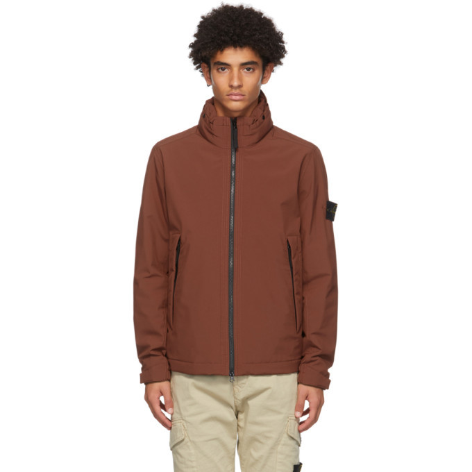 Photo: Stone Island Burgundy Soft Shell-R Jacket