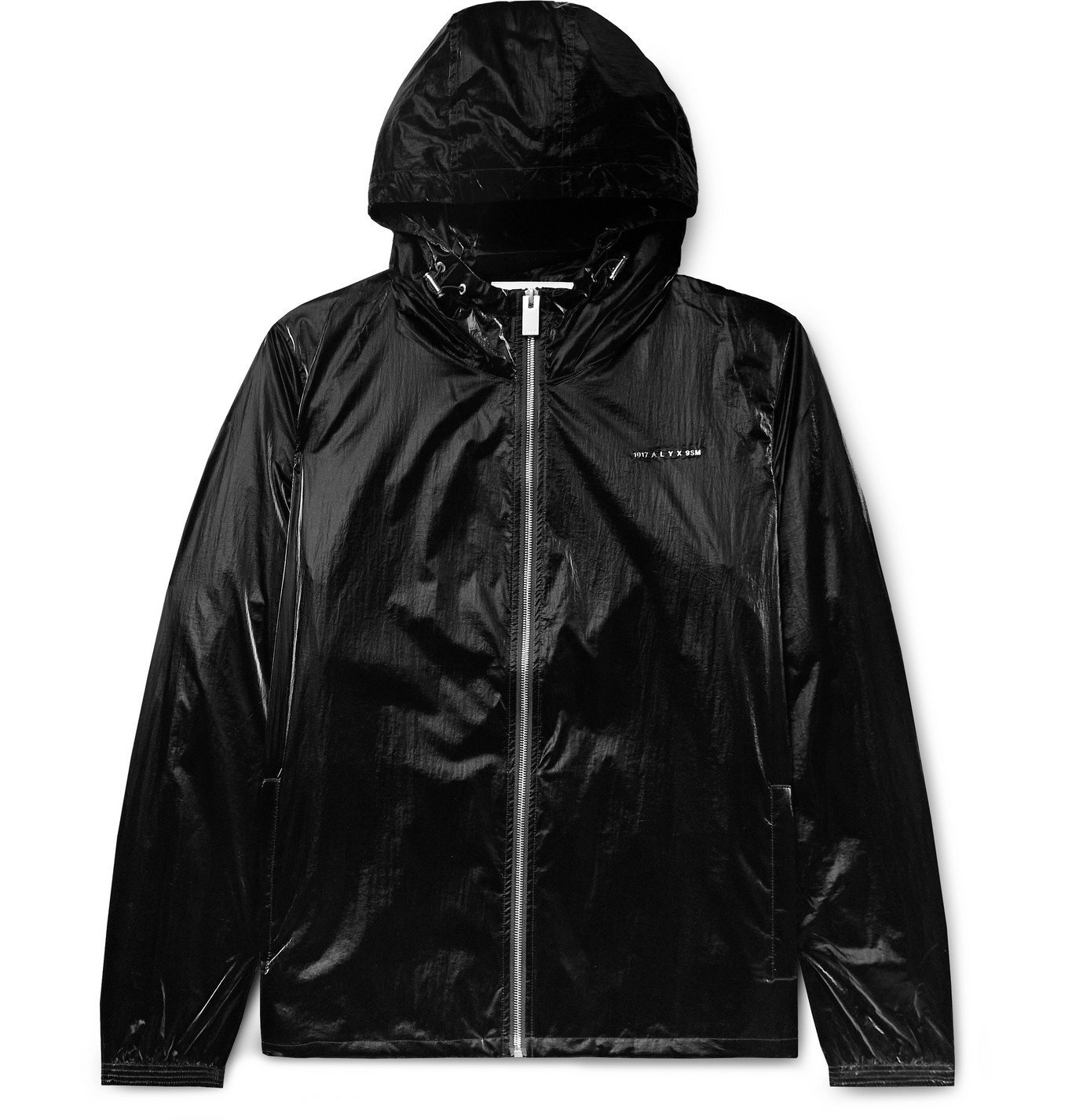Photo: 1017 ALYX 9SM - Nightrider Logo-Appliquéd Shell Hooded Jacket - Black