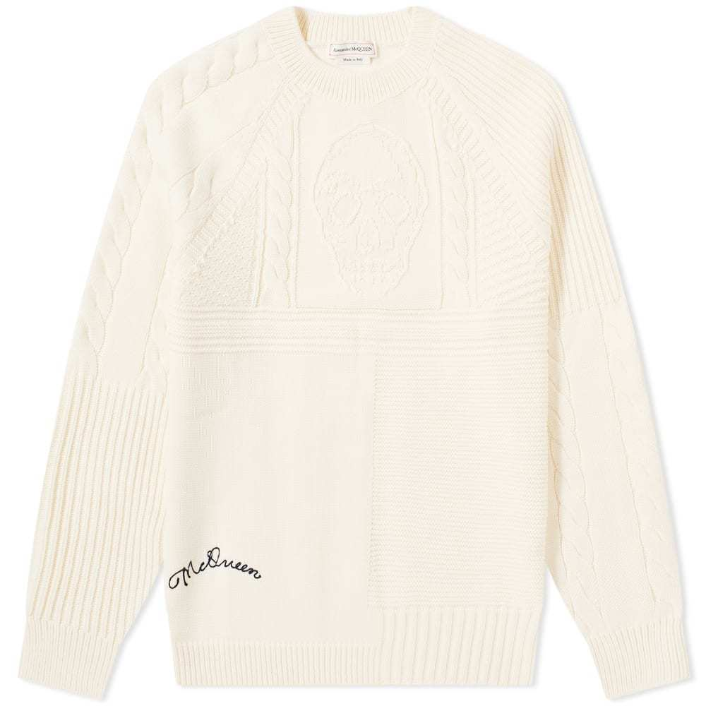 Photo: Alexander McQueen Skull Crew Cable Knit
