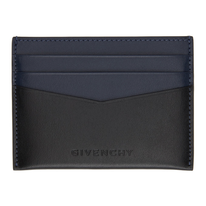 Photo: Givenchy Black and Navy Antigona Card Holder