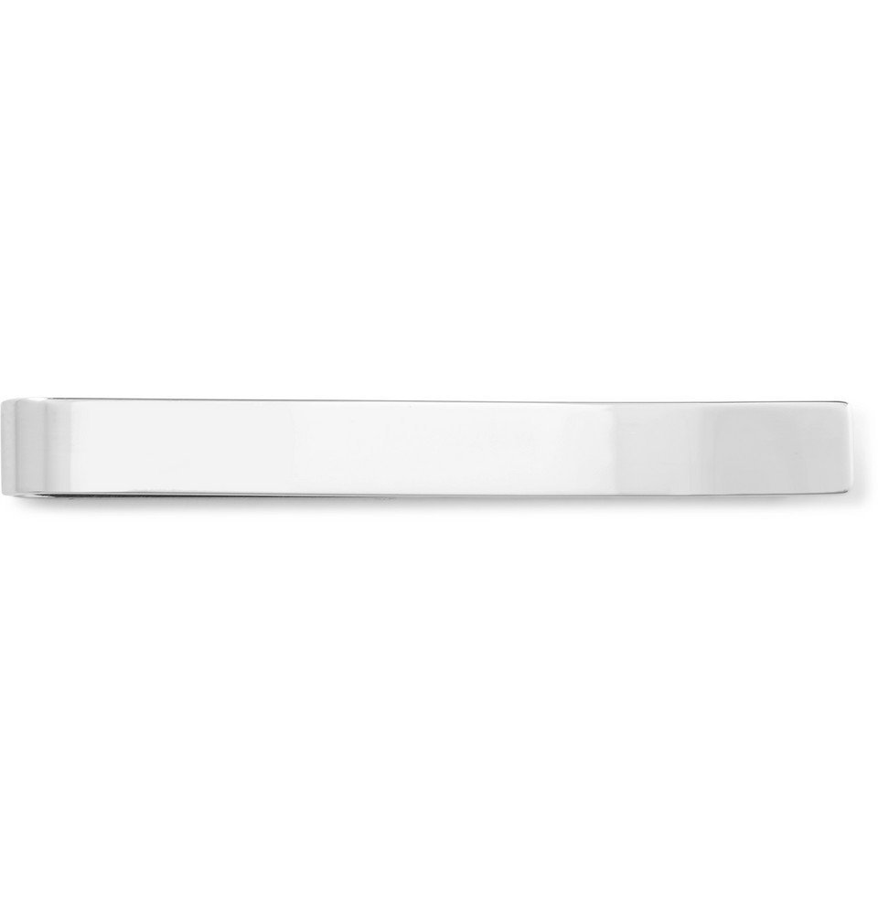 Photo: Burberry - Logo-Engraved Silver-Plated and Enamel Tie Clip - Silver