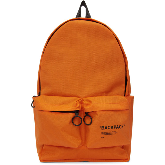 Photo: Off-White Orange Quote Backpack