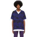 Ksubi Black and Blue Bring Back Neon Twill Shirt