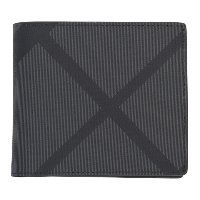 Photo: Burberry Grey and Black London Check Bifold Wallet