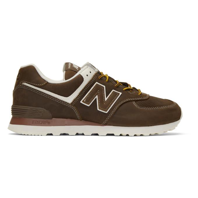 Photo: Junya Watanabe Brown New Balance Edition 574 Steer Sneakers