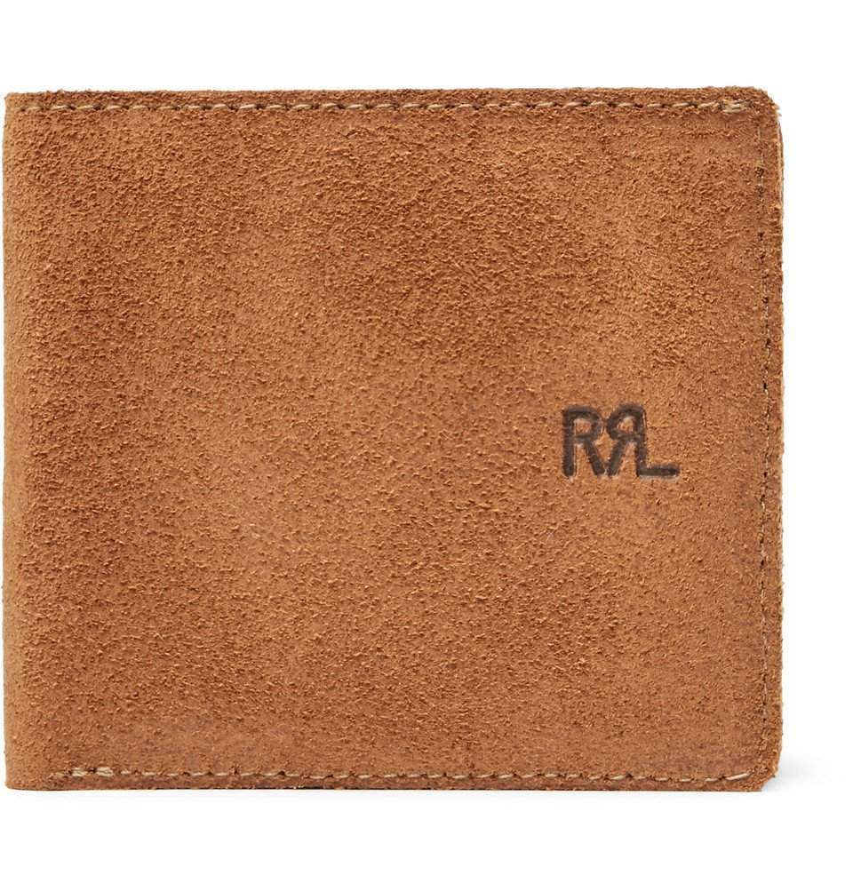 Photo: RRL - Ranch Suede Billfold Wallet - Tan