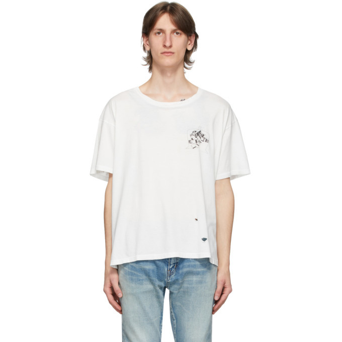Photo: Enfants Riches Deprimes White Nouvel Echec Distressed T-Shirt