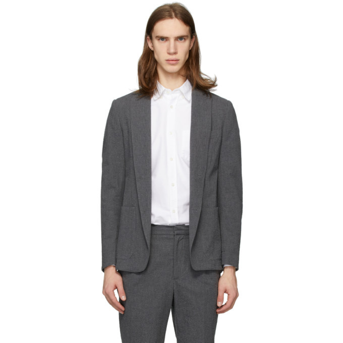 Photo: Officine Generale Grey Seersucker Lightest Blazer
