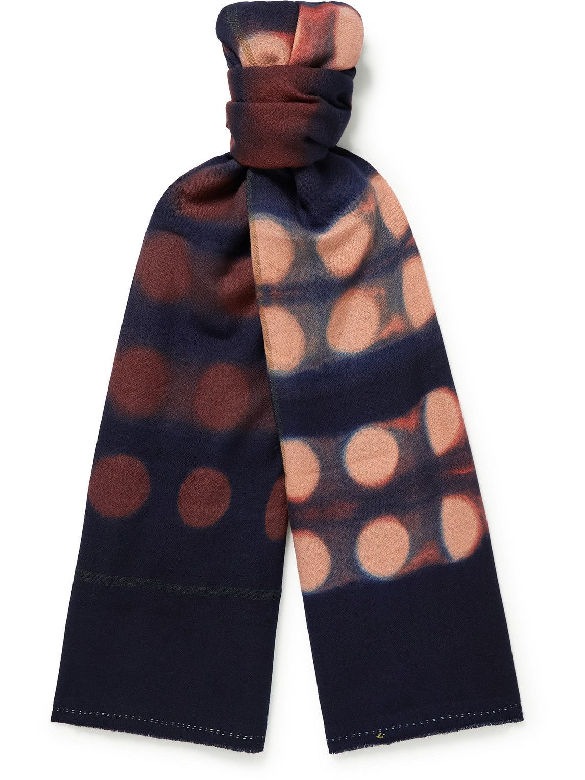 Photo: 11.11/eleven eleven - Tie-Dyed Wool Scarf