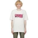 Ksubi Off-White Trashed Bleached T-Shirt