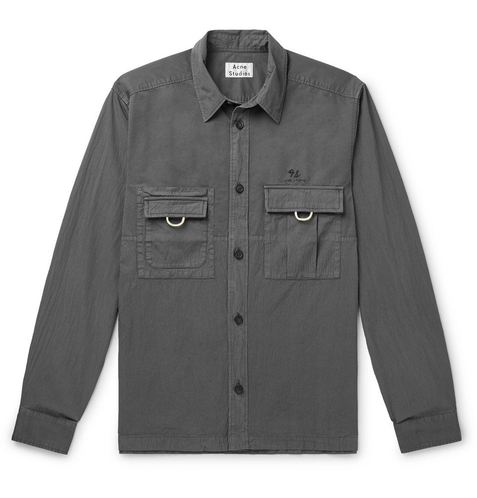 Photo: Acne Studios - Sandy Cotton-Blend Overshirt - Gray