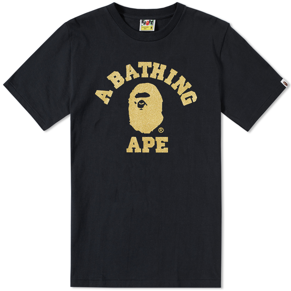 Photo: A Bathing Ape Glitter College Tee