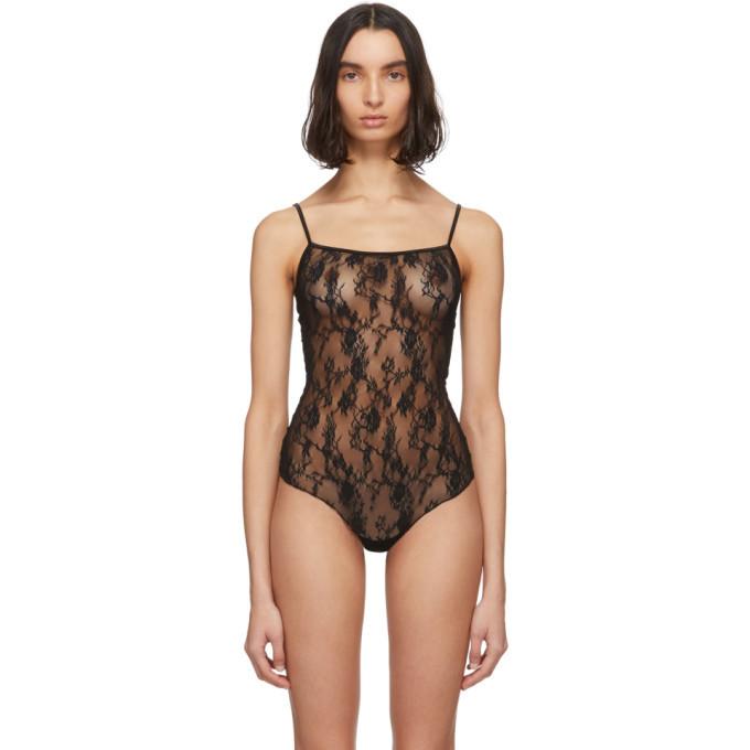 Photo: Wolford Black Katherina String Bodysuit