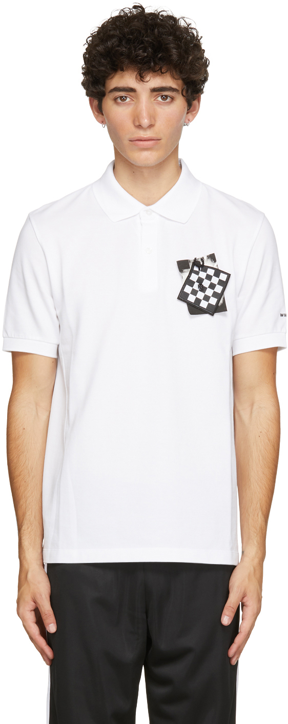 Photo: Raf Simons White Fred Perry Edition Chest Patch Polo