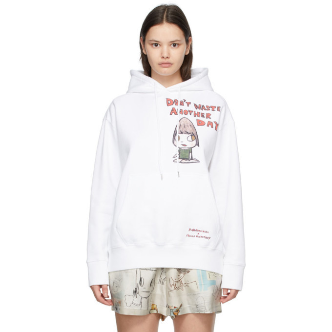 Photo: Stella McCartney White Yoshitomo Nara Edition Dont Waste Another Day Hoodie