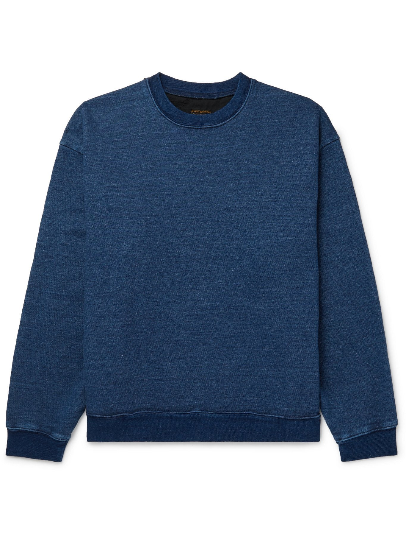 KAPITAL - Patchwork-Panelled Cotton-Jersey Sweatshirt - Blue