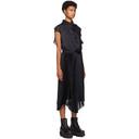 Sacai Black Pleated Satin Dress