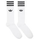 adidas Originals Three-Pack White Logo Solid Crew Socks
