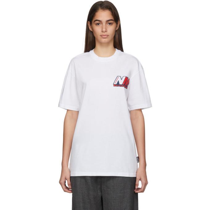 NAPA by Martine Rose White Ocelot Logo T-Shirt