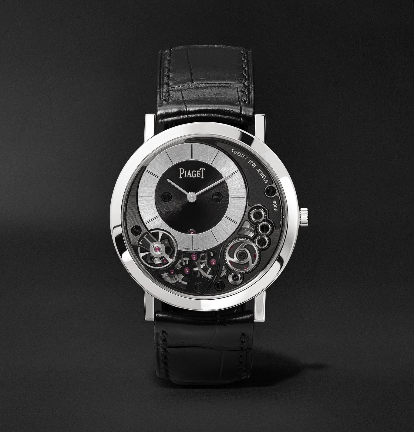 Photo: Piaget - Altiplano 38mm 18-Karat White Gold and Alligator Watch, Ref. No. G0A41035 - Black