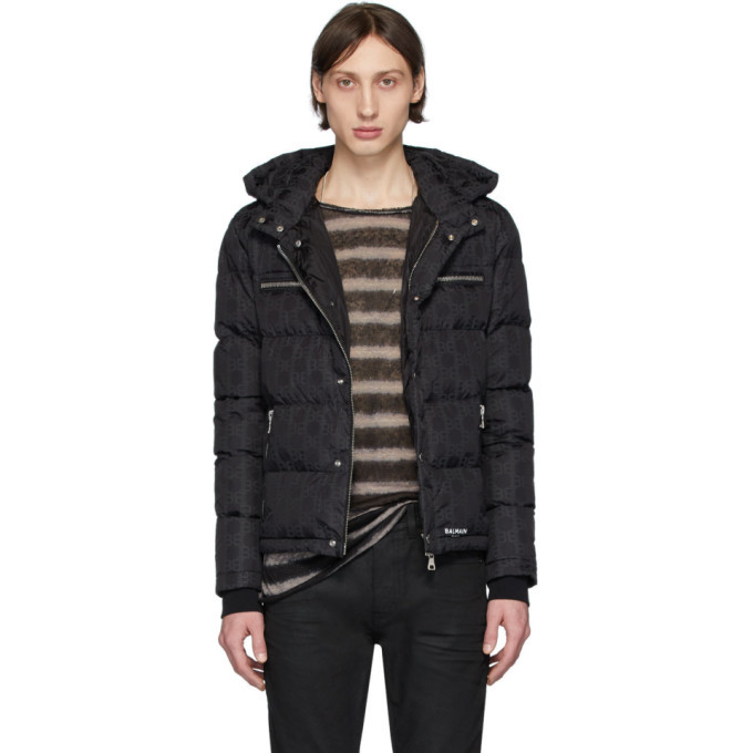 Photo: Balmain Black Down Monogram Jacket