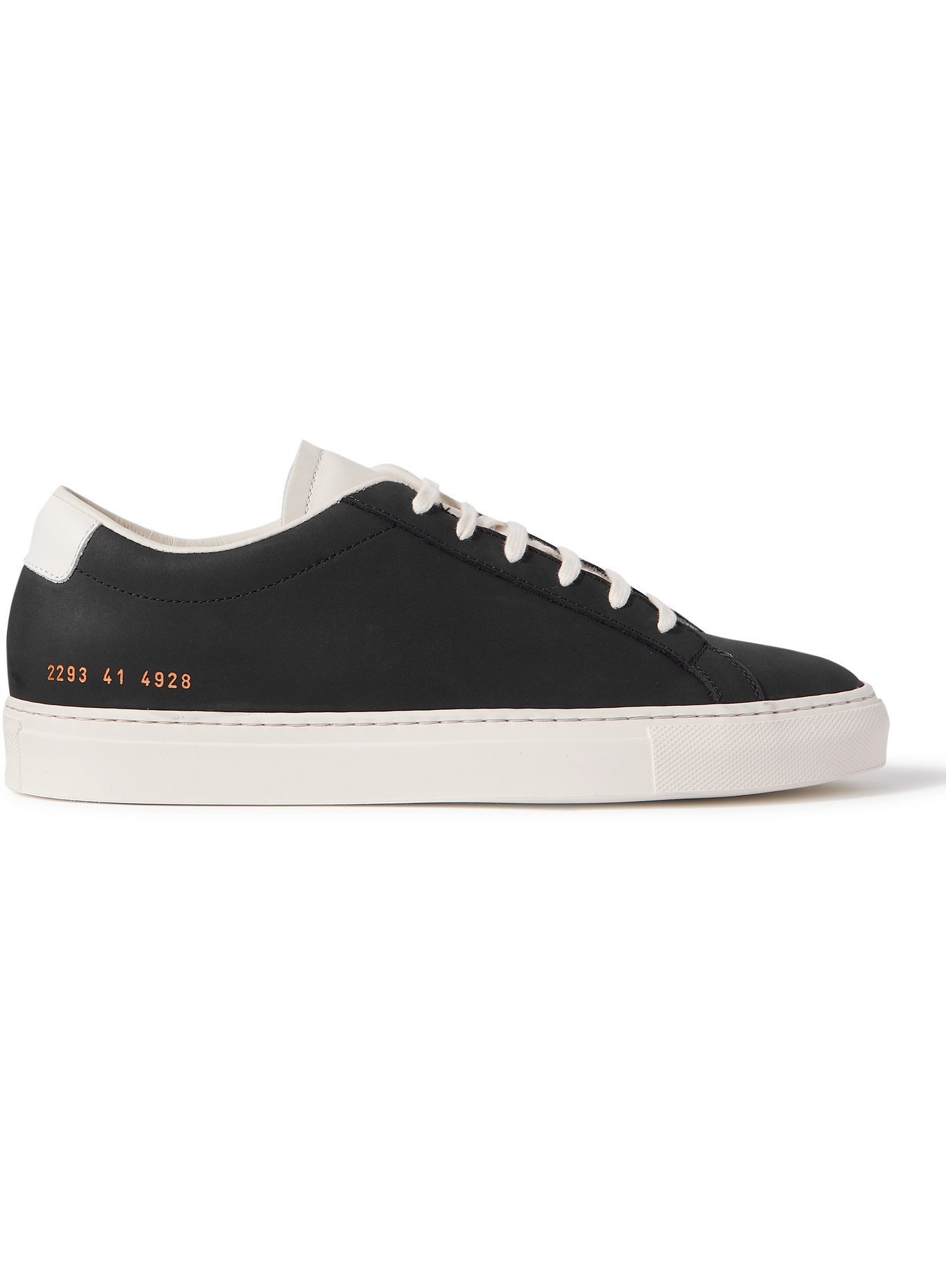 Photo: COMMON PROJECTS - Original Achilles Leather-Trimmed Nubuck Sneakers - Blue