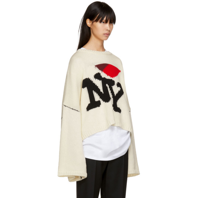 Raf Simons Off White Oversized I Love Ny Sweater Raf Simons