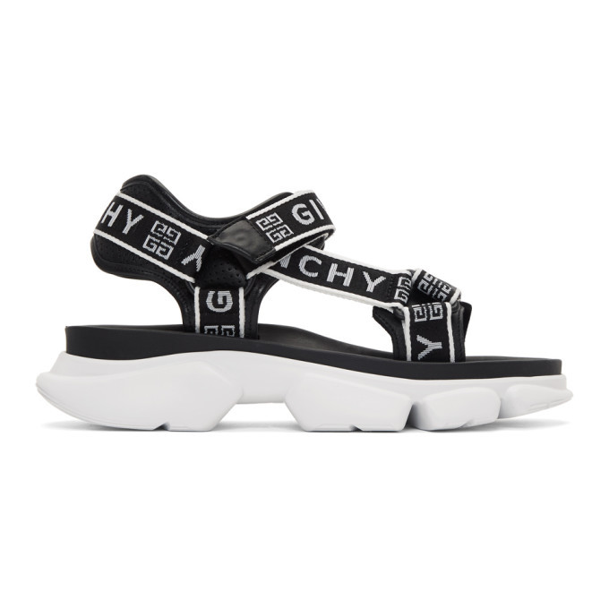 Photo: Givenchy Black and White 4G Jaw Sandals