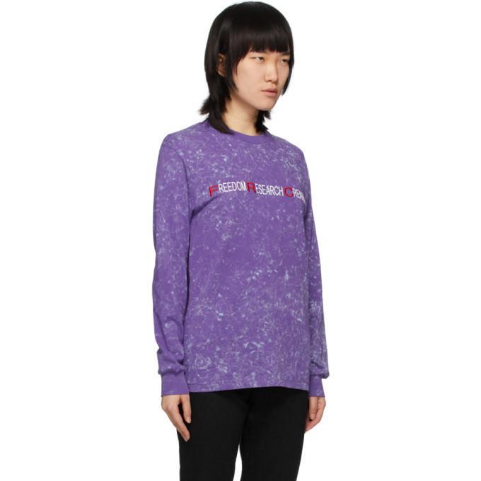 032c Purple Freedom Research Creativity Long Sleeve T-Shirt