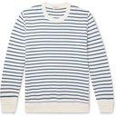 ALTEA - Striped Cotton Sweater - Blue