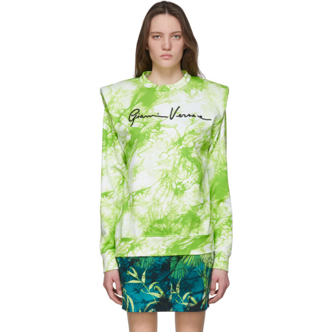 Photo: Versace Green Tie-Dye Signature Sweater