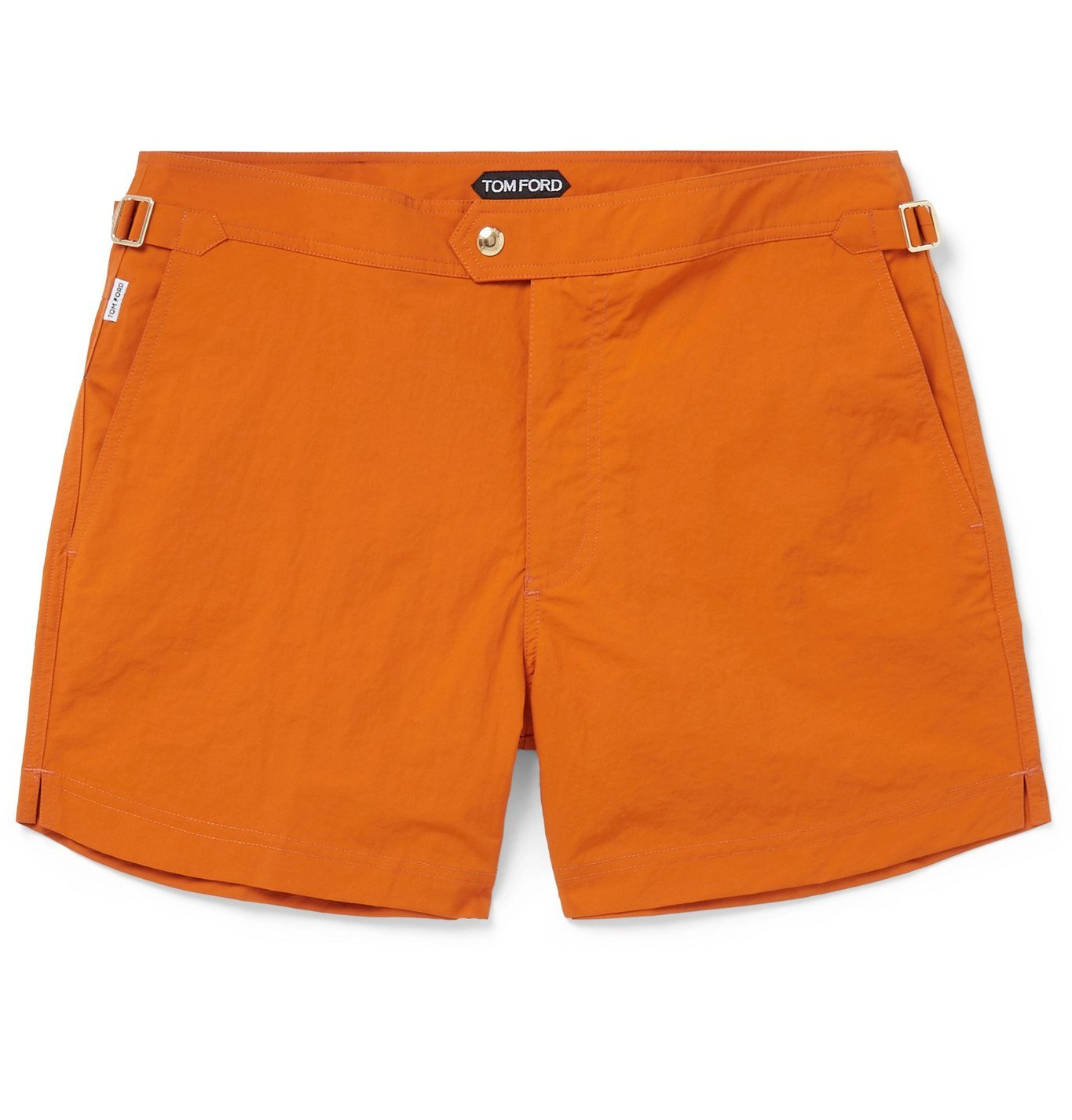 Photo: TOM FORD - Slim-Fit Mid-Length Swim Shorts - Orange