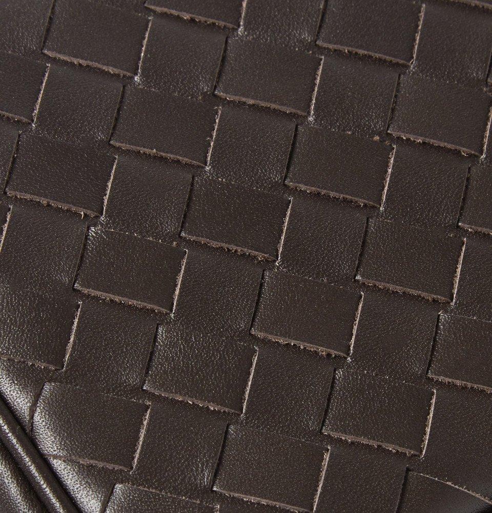 Bottega Veneta - Intrecciato Leather Cufflink Case - Men - Brown