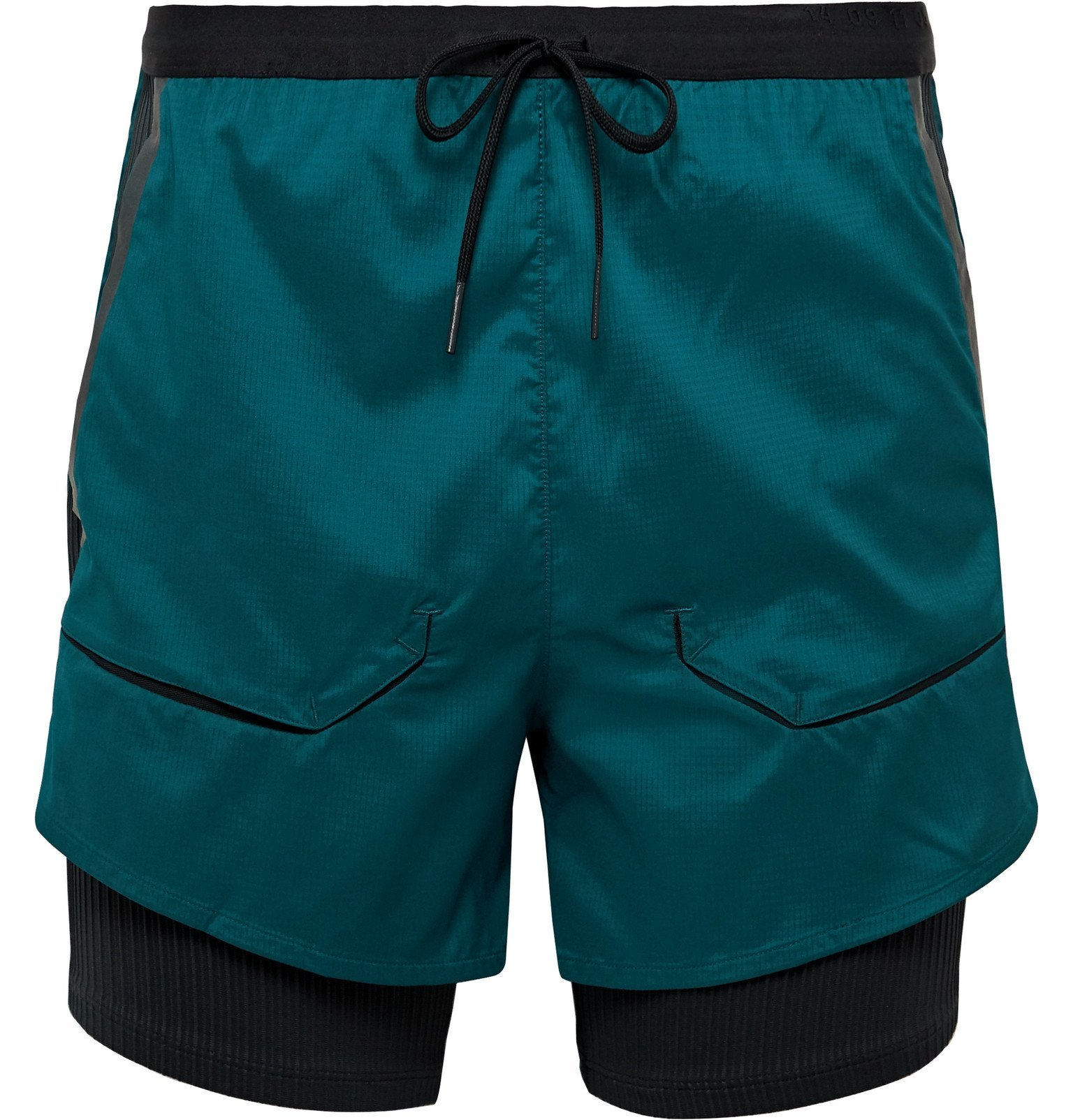 Nike Running - Tech Pack 2-in-1 Slim-Fit Ribbed Stretch-Jersey and Ripstop Shorts - Green
