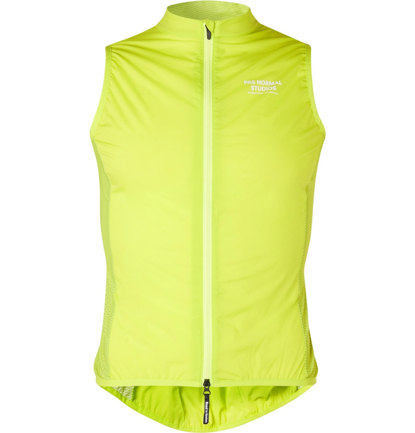 Photo: Pas Normal Studios - Neon Logo-Print Nylon Cycling Gilet - Green
