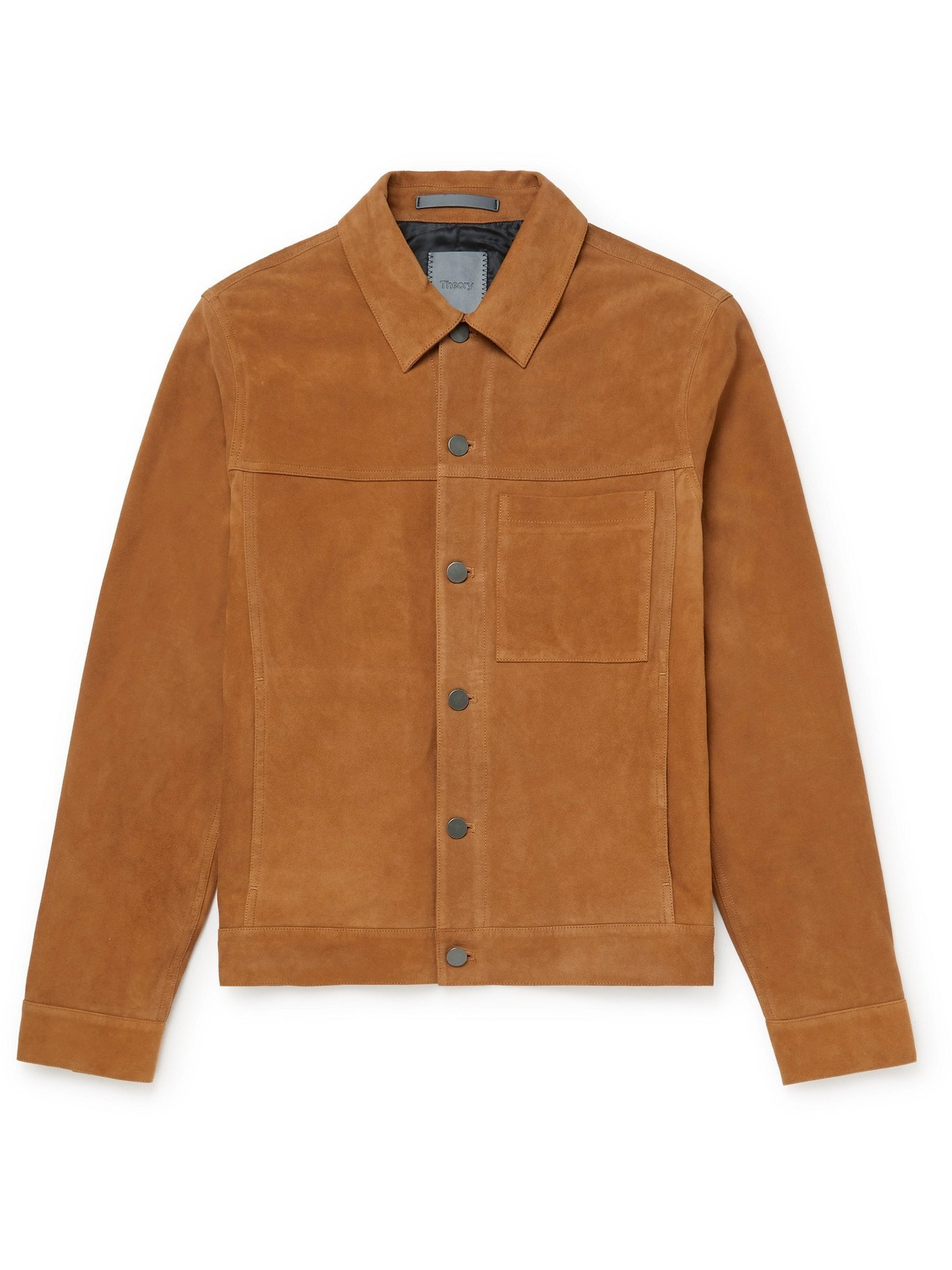 Photo: THEORY - Patterson Suede Jacket - Neutrals - XS