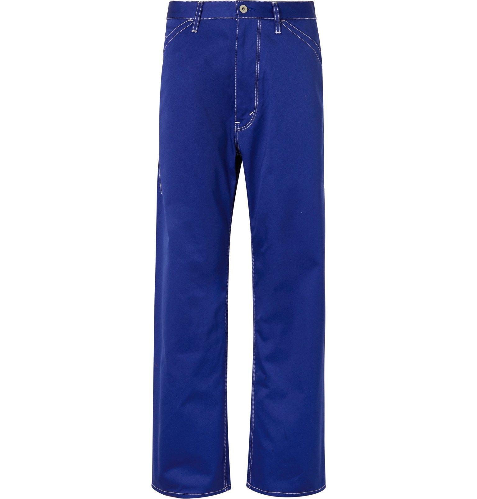 Photo: Junya Watanabe - Cotton-Blend Twill Trousers - Blue