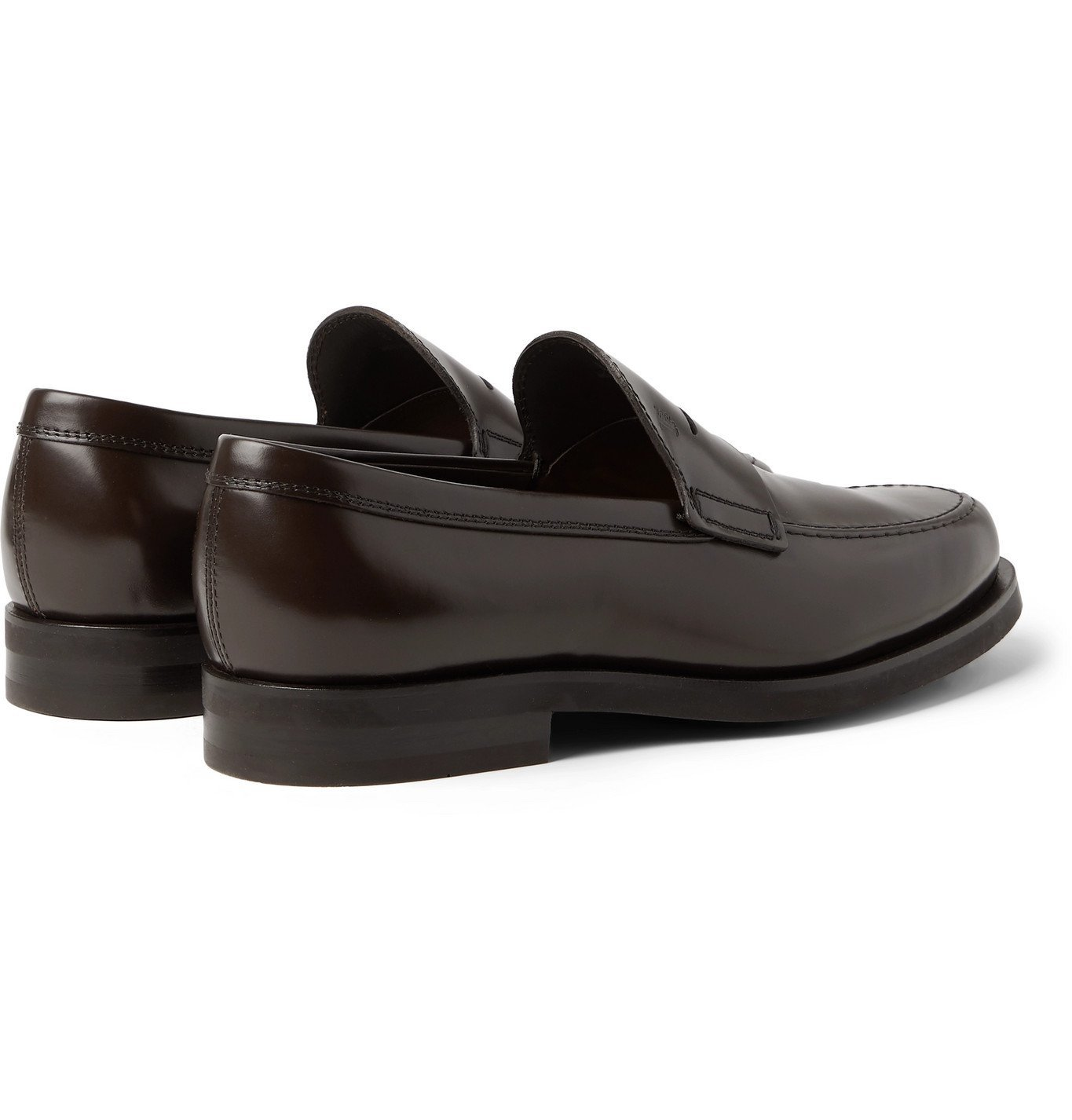 Tod's - Leather Penny Loafers - Brown