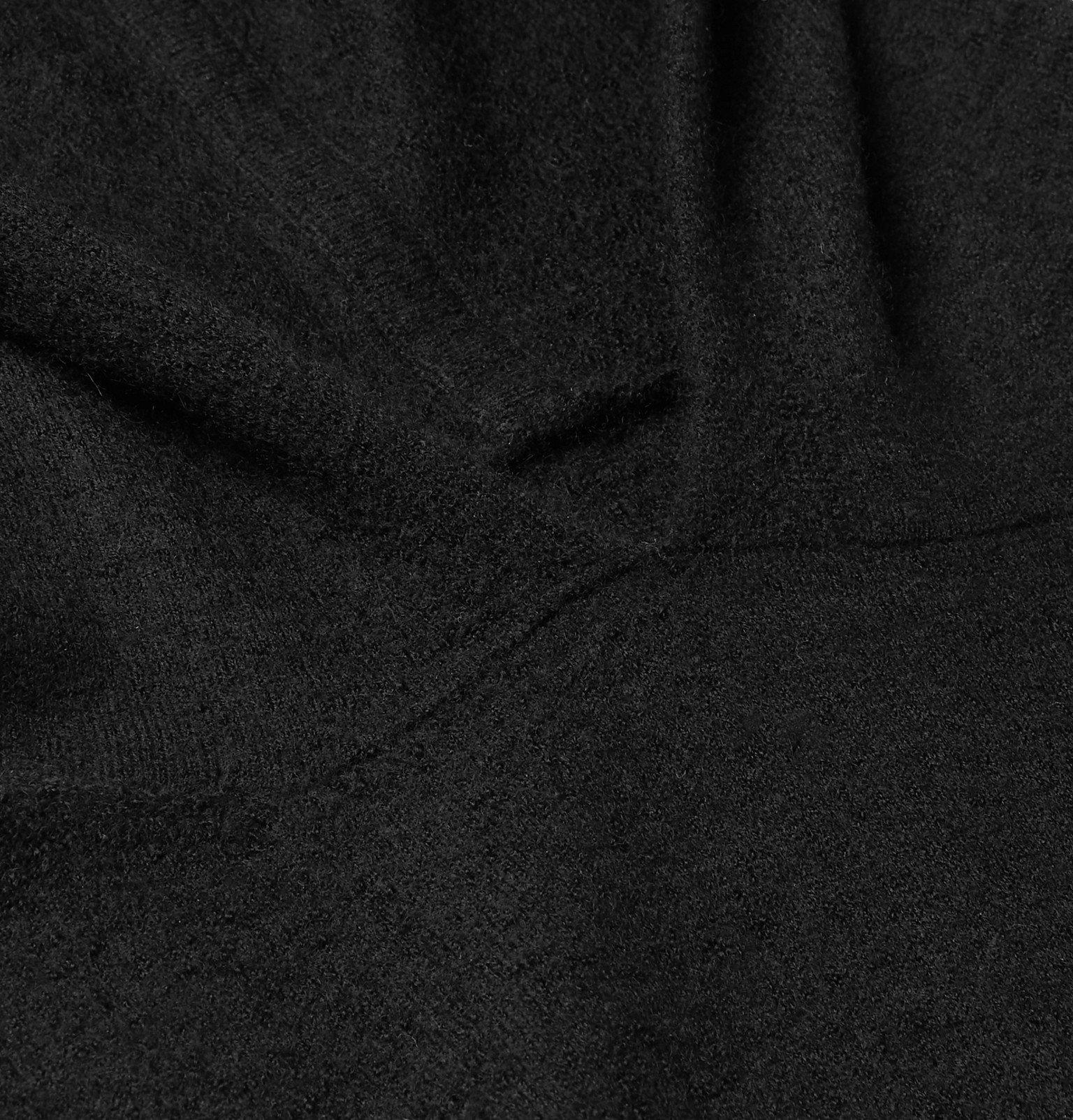 Rick Owens - Slim-Fit Boiled Cashmere Hoodie - Black