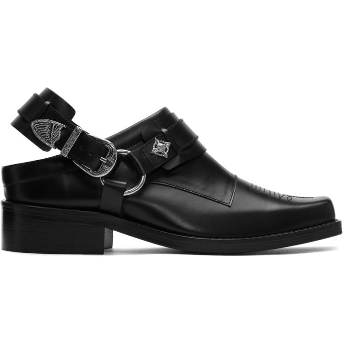 Photo: Toga Virilis Black Leather Slip-On Loafers