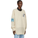 Raf Simons Beige Oversized Patch Sweater