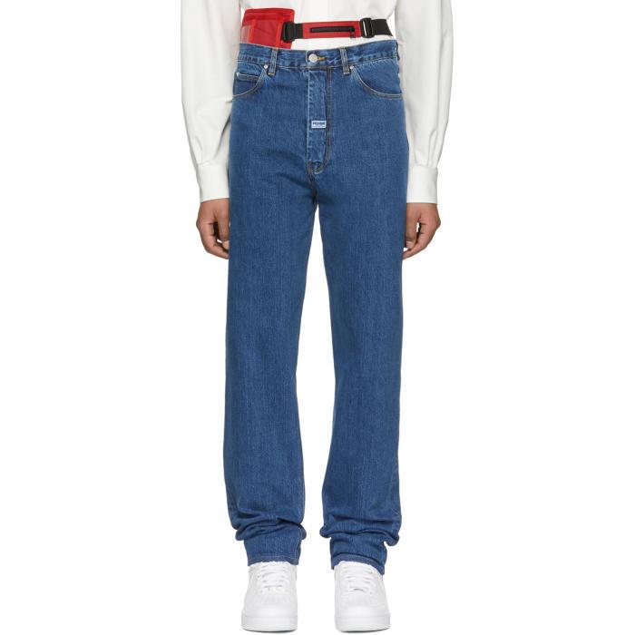 Martine Rose Indigo High Waisted Jeans