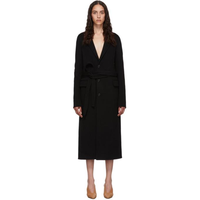 Photo: Bottega Veneta Black Wool Coat