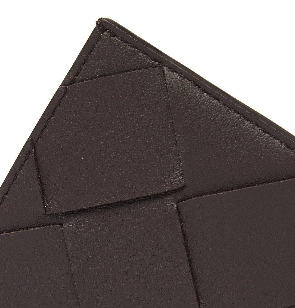 Bottega Veneta - Intrecciato Leather Cardholder - Brown