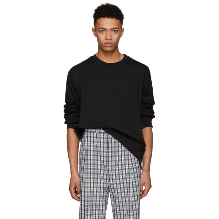 3.1 Phillip Lim Black Re-Constructed Sweatshirt