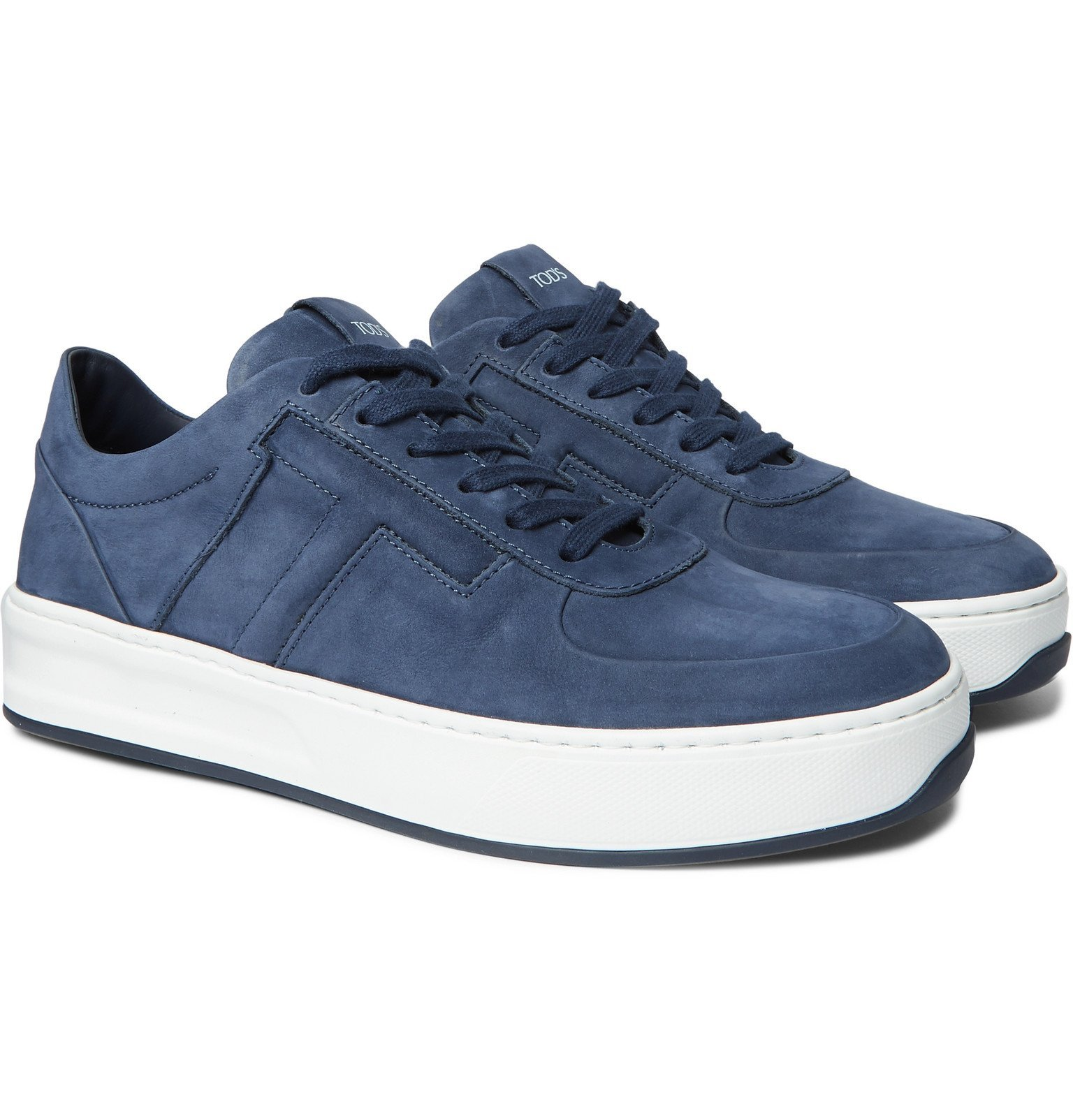 Photo: Tod's - Cassetta Nubuck Sneakers - Blue